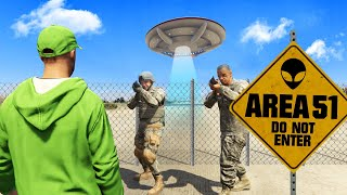 BREAKING Into AREA 51 In GTA 5! (Secret)