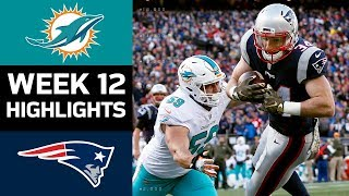 Dolphins vs. Patriots | NFL Week 12 Game Highlights