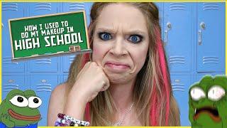 HOW I DID MY MAKEUP IN HIGH SCHOOL   GRAV3YARDGIRL