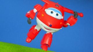 Super Wings - Jett Transformers Super Wings Flugzeug | Spielzeug Kinderkanal