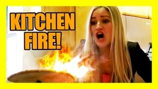 KITCHEN FIRE!!!!   iJustine