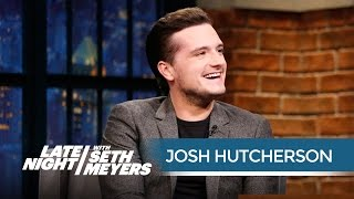 Josh Hutcherson on Living in a Hotel with His Hunger Games Co-Stars - Late Night with Seth Meyers