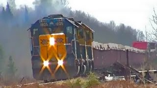 (HD) Ontario Northland Freight 313 with 1805