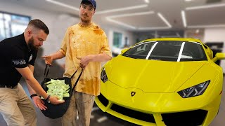 Homeless Man Buys A Lamborghini