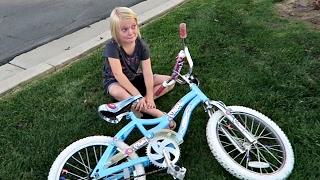 SHE CRASHED HER BIKE!
