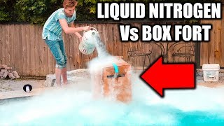 BOX FORT Vs LIQUID NITROGEN CHALLENGE! ❄️