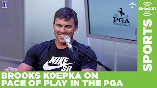 Brooks Koepka on pace of play on the PGA Tour