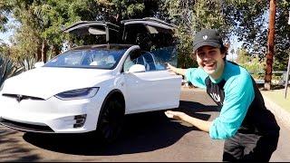 CAR TOUR OF MY NEW TESLA (ft. Heath Hussar)