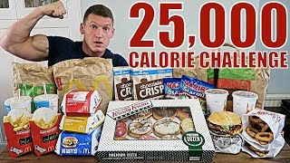25,000 CALORIE CHALLENGE | Epic Cheat Day | Man vs Food