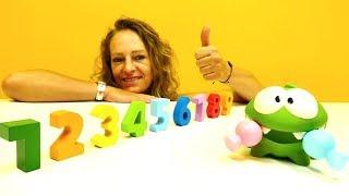 Spielspaß mit Om-Nom - Zahlen Lernen leicht gemacht - Video für Kleinkinder