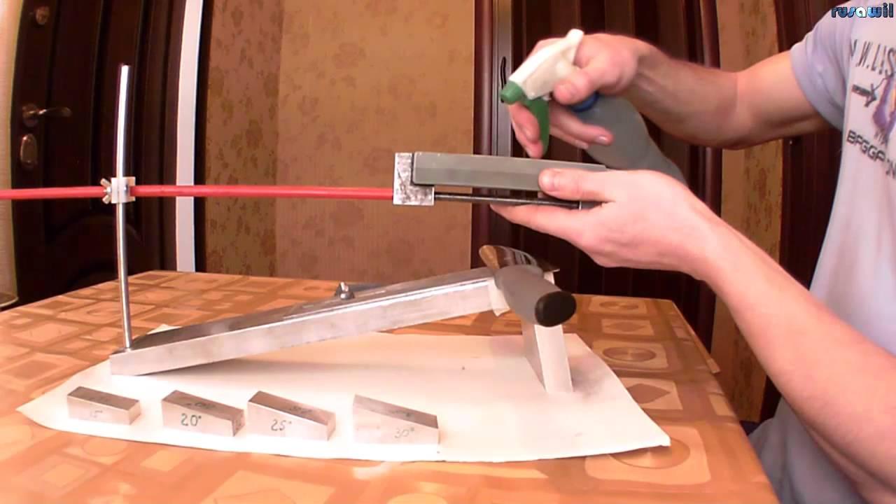 Приспособа для заточки ножей своими руками видео