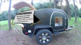 Mini Rodante Teardrop Trailer - Blackbair de Andycampers