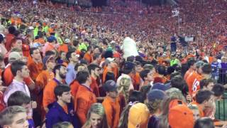 "Clemson Football entrance ""The Hill"" vs Louisville 2016 and kickoff"