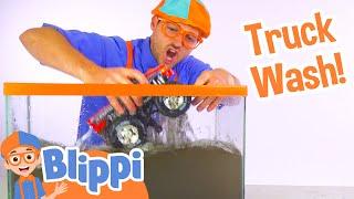 Blippi Truck Wash | Truck Videos for Children by Blippi