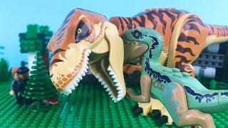 LEGO Jurassic World STOP MOTION LEGO Jurassic World: T-Rex vs Velociraptor | LEGO | By Billy Bricks