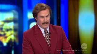"Ron Burgundy & The ""Infamous Fanny"" Interview LIVE FULL Australian Tv 25-11-2013"