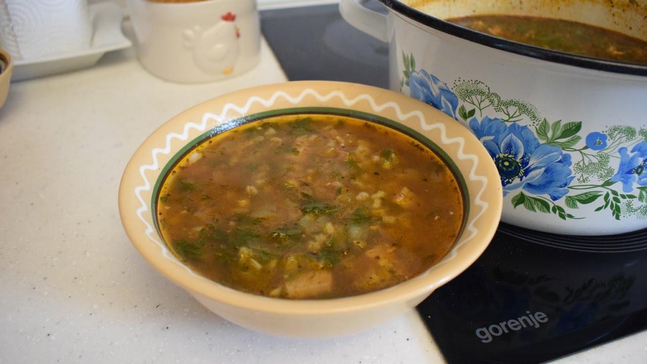 Вкусный и простой суп харчо
