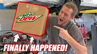 MOUNTAIN DEW SENT US A BOX... **Bardle Skeet Alert** (this is not a drill)