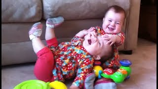 Funny Twin Babies Fighting Over Stuff Compilation (2017)