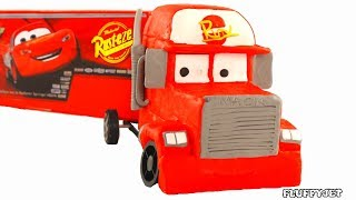 Cars Lightning McQueen Mack Truck Play Doh Stop Motion Disney Kids video Surprise Toys & baby song