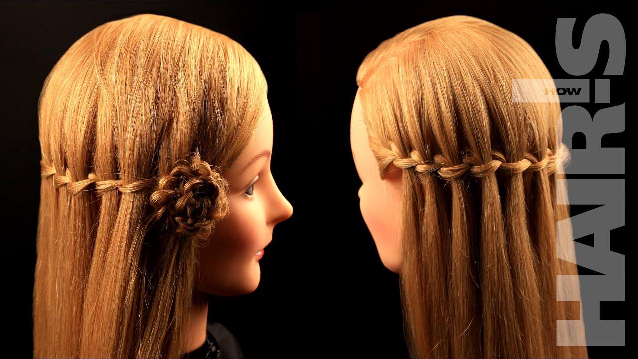 Коса плетение по краю