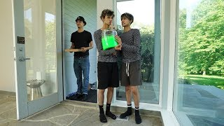 SLIME PRANK ON PIZZA GUY!