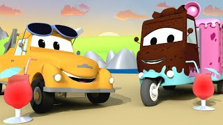 Carrie das Süßigkeitenauto - Toms Autowaschanlage in Car City 💧 Cartoons für Kinder