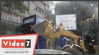 شنت أجهزة محافظة الجيزة حملة مكبرة بمحيط نادى الصيد بحى الدقى، اليوم, الأحد