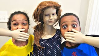 Bad Baby Mannequin ATTACKS - Shasha and Shiloh Creepy Stalker - Onyx Kids