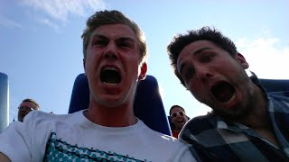 EATING GHOST PEPPERS ON A ROLLER COASTER | Project 30 #29 | YES THEORY
