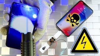 iPhone X vs USB Killer & Burning Laser!