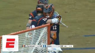 Syracuse lax gets revenge against Duke
