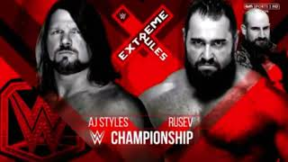 WWE Extreme Rules 2018 Aj Styles vs Rusev Official Match Card