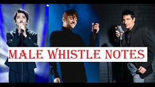 Male Singers - Whistle Notes Register