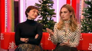 Darkest Hour  Lily James & Kristin Scott Thomas interview