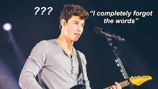 Shawn Mendes FORGETTING lyrics on stage !