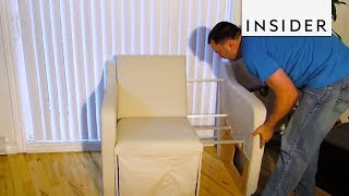 How a Sofa Shrinks into Loveseat and Chair