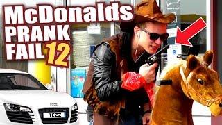 McDonalds PRANK FAIL - MCDRIVE COWBOY & AUDI R8  - McDonalds Roulette