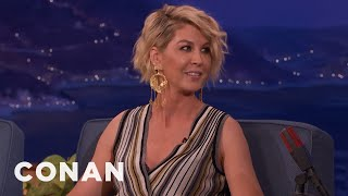 Jenna Elfman Danced Behind Home Plate At A Dodgers Game  - CONAN on TBS