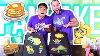 PANCAKE ART CHALLENGE (ft. FuriousPete)