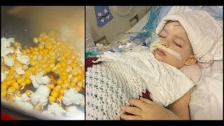 3 Year Old Inhales Tiny Popcorn Kernel  6 Months Later, Doctors Say They Must Pull Life Support