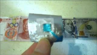 New $100 Bill & RFID Microwave Test