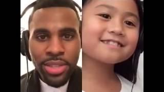 Smule Sing app performance ft. Jason Derulo and a little girl fan
