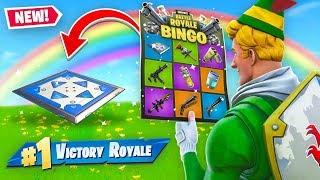 Rainbow BINGO Battle In Fortnite! (Challenge)