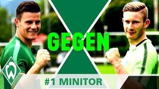 1gegen1 CHALLENGE: Florian Kainz gegen Michael Zetterer | #1 Mini-Tor | SV Werder Bremen