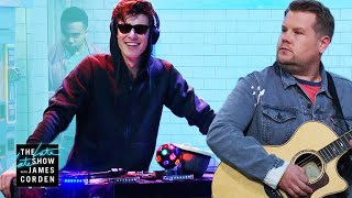 Shawn Mendes Destroys James In a Cover Battle #LateLateShawn