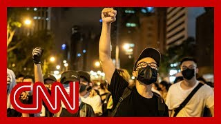 China blames US for massive Hong Kong protest