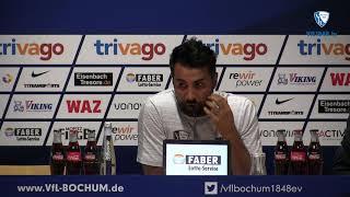 VfL-Trainer Ismail Atalan dankt den Fans für die Unterstützung gegen Dynamo Dresden