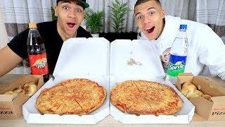 PIZZA MENÜ CHALLENGE + HEFTIGE STRAFE !!! | PrankBrosTV