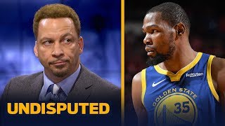 Chris Broussard on KD calling him out on Twitter: I have no problem with it | NBA | UNDISPUTED